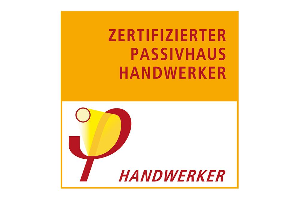 zertifizierter passivhaus handwerker label